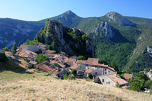 The village of Rougon in the Department of Alp...