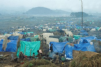 Refugee camp for Rwandans located in what is n...