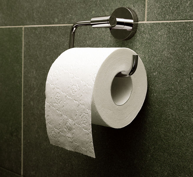 The over method of toilet paper presentation