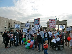Montagsdemo in Berlin, 14. Juni 2010