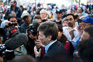 English: Jeffrey Sachs speaks at an Open Forum...