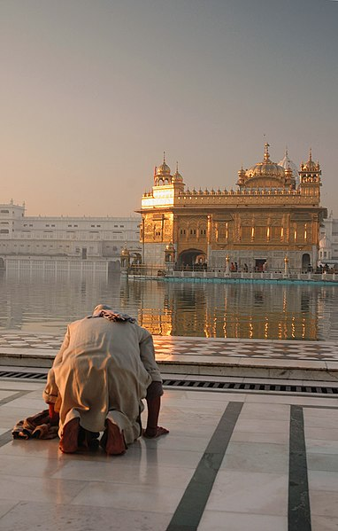 File:A devotee at Gurudwara Harmandir Sahib, Punjab.jpg