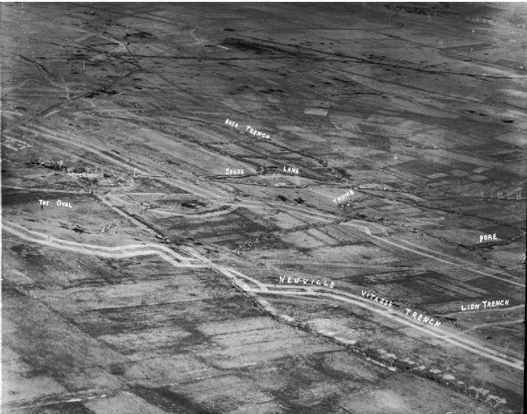 File:Aerial photograph of Hindenburg Line west of Wancourt 24-03-1917 IWM.jpg