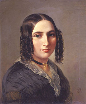 Portrait of Fanny Hensel, 1842, Oil on canvas