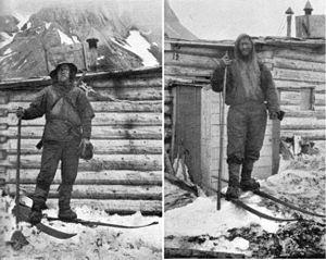 Fridtjof Nansen (left) and Hjalmar Johansen af...