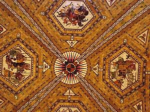 Nebraska State Capitol, old house chamber ceiling.