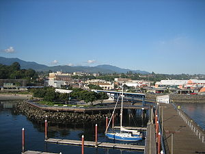 Port Angeles, Washington from the pier tower, ...