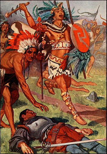 Aztecs continue their assault against the conq...