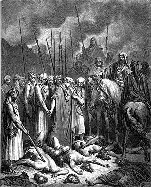"""Joshua spares Rahab"" (Jos 6:25)"