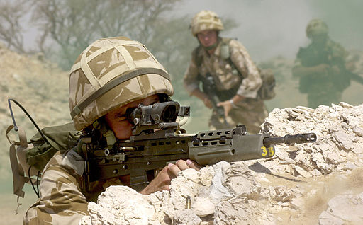 Soldiers on Exercise in Oman in 2001 MOD 45140762