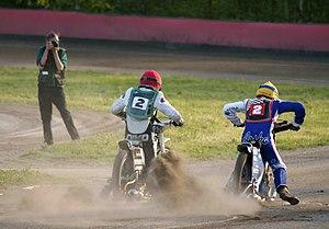 English: Speedwayriders Niko Siltaniemi (team ...
