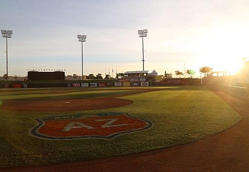 The sun rises over Surprise Stadium (25618823921)