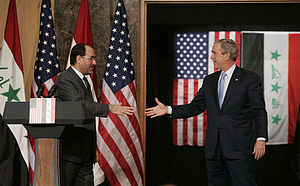 President George W. Bush reaches out to Iraqi ...