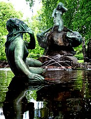 Aino Fountain by artist Emil Wikström in Lahti, Finland. Photo: Kartanofoto