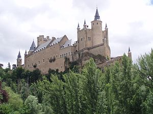 The present-day Alcázar of Segovia, significan...