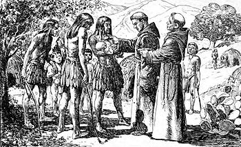 English: The first recorded baptism in Alta Ca...