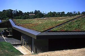 Green roof planted with native species at L'Hi...