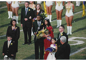 English: Picture of Homecoming Court, Universi...
