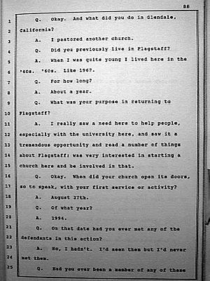 English: Page 88 from official transcript of C...