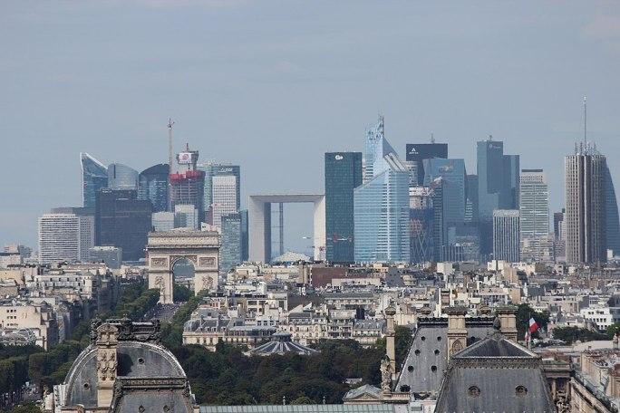 Paris La Défense seen from Tour Saint Jacques 2013-08