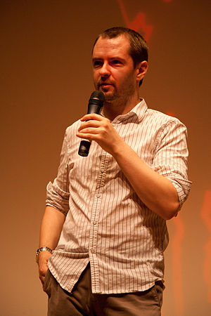 English: Stuart Hazeldine introduces his film ...