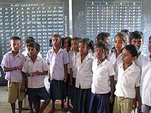 School children in Tamil Nadu