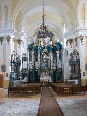 Interior of Roman Catholic Church, Buchach, Uk...