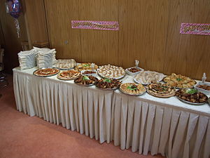 Buffet at a christening