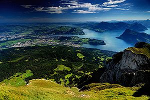 Lake Lucerne from Pilatus