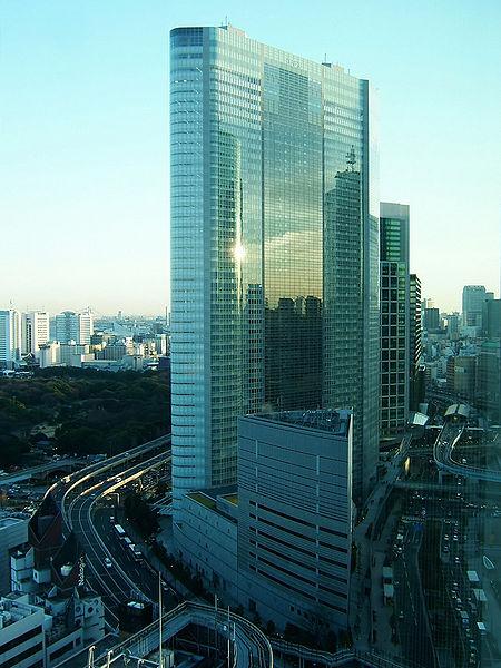 El edifico Dentsu en Tokio