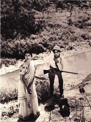 Pramathesh Barua and Jamuna Barua in Debdas, 1935.
