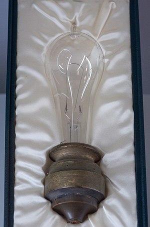 Ampoule originale de Thomas Edison avec filame...