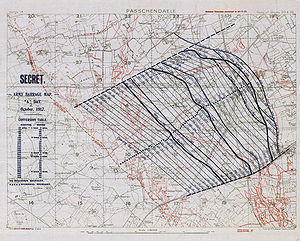 artillery barrage map from ...
