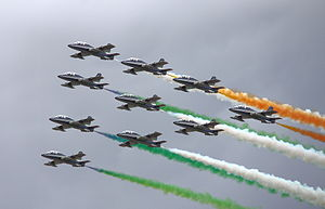 English: Frecce Tricolori in full formation at...