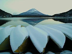 Mount Fuji from Lake Shōji in Yamanashi Prefecture