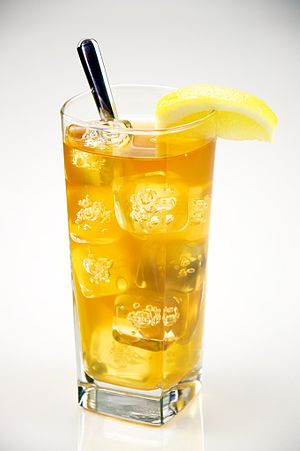 A Glass of iced tea.