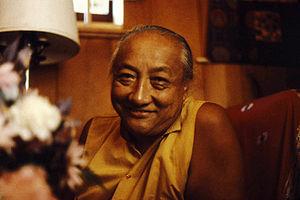 HH Dilgo Khyentse Rinpoche at Sakya Ward St Ce...