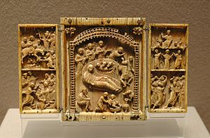 Scenes from the life of Jesus Christ, triptych...