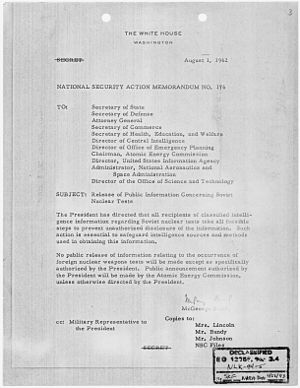 National Security Action Memorandum No. 176 Re...