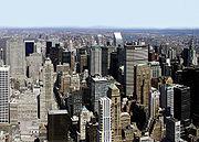 Midtown Manhattan es el distrito de negocios más grande de Estados Unidos.Ver la panorámica entera.