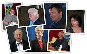 English: Collage of photos of authors