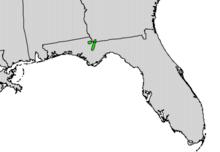 Torreya taxifolia range map.png