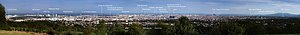 Panoramic view of Vienna towards the east, see...