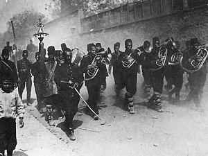 English: Young Turk revolutionaries entering I...