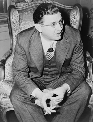 David O. Selznick, three-quarter length portra...