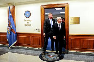 English: Defense Secretary Robert M. Gates and...