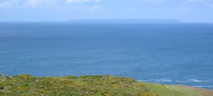 Viewed from Jersey's north coast, Jethou, Herm...