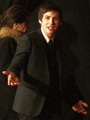 English: Actor Logan Lerman at the premiere of...