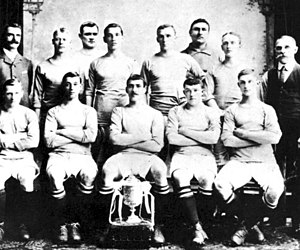 The Manchester City team which won the 1904 FA Cup