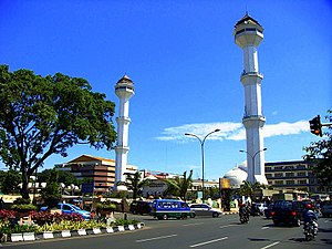 The Grand Mosque of Bandung with its twin mina...